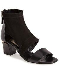 Delman 'Kara' Leather & Suede Bootie - Lyst