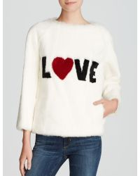 Maximilian Byte By Giuliana Teso For Sheared Rabbit 'Love' Pullover - Bloomingdale'S Exclusive - White