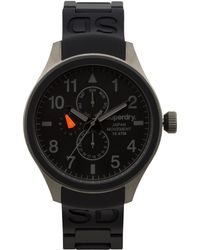 Superdry Men'S Scuba Black Silicone Strap Watch 43Mm Iww-D10310086 - Lyst