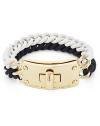 Marc By Marc Jacobs Double Vision Turnlock Bracelet Black White - Lyst