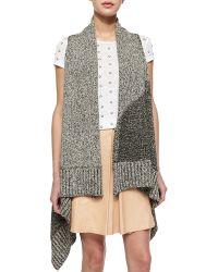 Alice + Olivia Nessa Mixed-Stitch Long Vest - Lyst