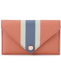 Dagne Dover Card Case - Sienna Stripe - Multicolor