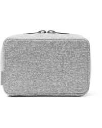 Dagne Dover Arlo Tech Pouch In Heather Gray, Large