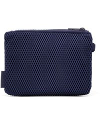 Dagne Dover Parker Airmesh Pouch In Storm, Small - Blue