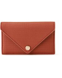 Dagne Dover Card Case In Clay Red