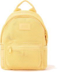 Dagne Dover Dakota Backpack In Pollen Air Mesh, Small - Yellow