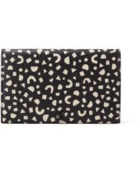 Dagne Dover Refresh Sale Accordion Travel Wallet In Block Party Print - Black