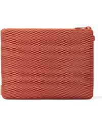 Dagne Dover Sample Sale Parker Pouch In Clay Red, Extra Large