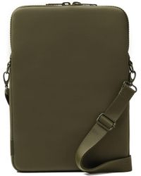 Dagne Dover Laptop Sleeve In Dark Moss, 15-inch - Green