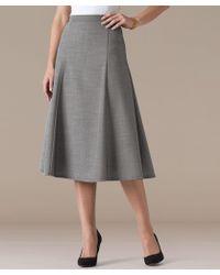 DAMART Wool Blend Flared Skirt - Gray