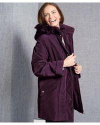 DAMART Faux Fur Coat - Purple