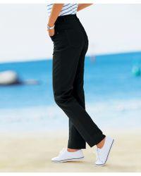 DAMART Cotton Stretch Trousers - Black