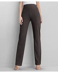 DAMART Ponte Straight Leg Trousers - Brown