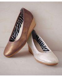 DAMART - Metallic Wedge Shoe - Lyst