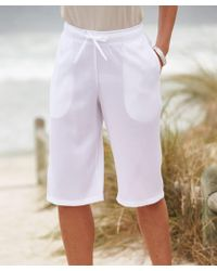 DAMART Crinkle Bermuda Shorts - White