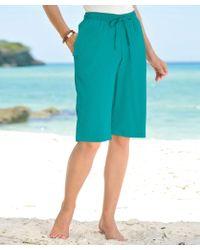 DAMART Crinkle Bermuda Shorts - Blue
