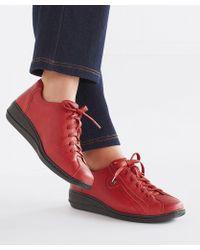 DAMART Coussin D'air Lace Up Shoe - Red