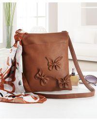 DAMART Messenger Bag & Scarf - Brown