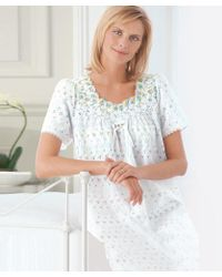 DAMART Broderie Anglaise Nightdress - Multicolour