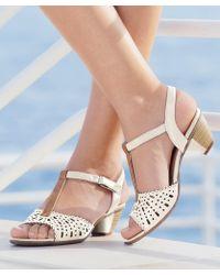 DAMART - Two Tone Heeled Sandals - Lyst