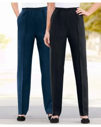 DAMART Pack Of 2 Pull-on Trousers - Blue