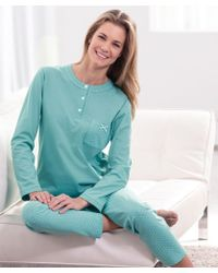 DAMART Cotton Pyjamas - Blue