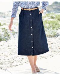 DAMART Button-through Skirt - Blue
