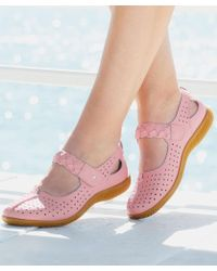 DAMART - Coussin D'air Woven Detail Strap Sandals - Lyst