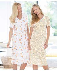 DAMART Pack Of 2 Cotton Nightdresses - Multicolour