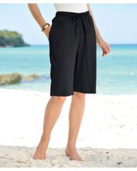 DAMART Crinkle Bermuda Shorts - Black