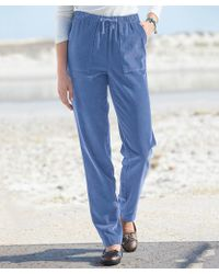 DAMART Cord Rugby Trousers - Blue