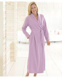 DAMART Fleece Wrap - Purple