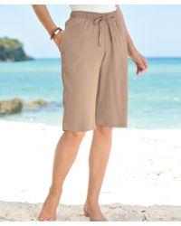 DAMART Crinkle Bermuda Shorts - Multicolour