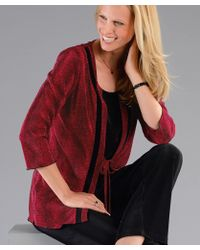 DAMART 2-in-1 Pleated Blouse - Red