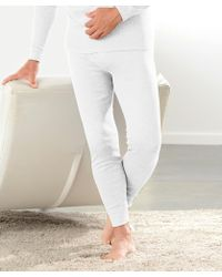 Mens Size Large White Thermal Long Pants New From Damart