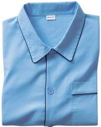 DAMART Men's Winceyette Pyjamas - Blue