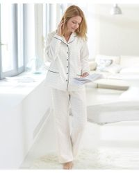 DAMART Satin Pyjamas - White