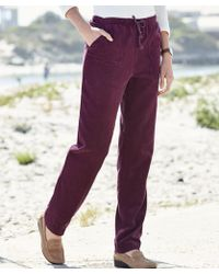 DAMART Cord Rugby Trousers - Purple