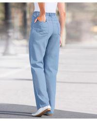 DAMART Pull-on Jean Trousers - Blue