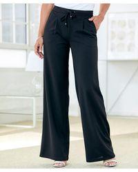 DAMART Wide-leg Trousers - Blue