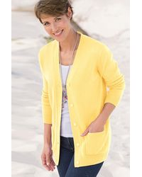 DAMART Soft Easy-care Cardigan - Yellow