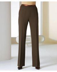 DAMART Satin Trim Trousers - Brown