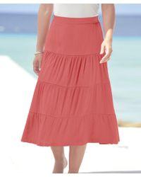 DAMART Crinkle Skirt - Red