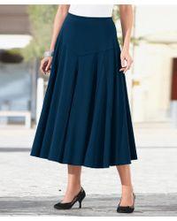 DAMART Jersey Panelled Skirt - Blue