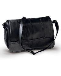 DAMART Leather Handbag - Black