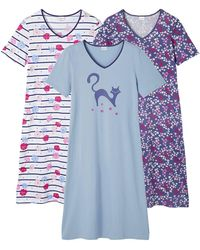 DAMART Pack Of 3 Nightdresses - Blue