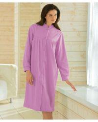 DAMART - Fleece Housecoat - Lyst