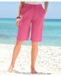 DAMART Crinkle Bermuda Shorts - Pink