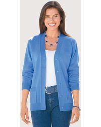 DAMART Soft Easy-care Cardigan - Blue