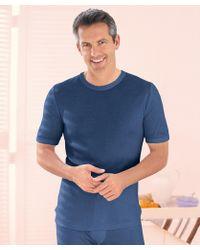 DAMART Thermolactyl Short Sleeved Vest - Blue